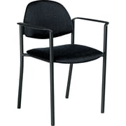Global Comet™ 100% Polypropylene Stacking Chair, Black
