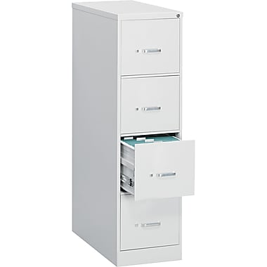 OIF 26 1/2in.D 4 Drawer Legal Size Economy Vertical File, Light Gray