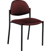 Global Comet™ 100% Polypropylene Armless Stacking Chair, Burgundy