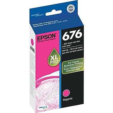Epson® 676XL Magenta Ink Cartridge, High-Yield (T676XL320)