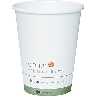 Stalk Market® Planet+ Biopolymer Hot Cup, 12 oz., White, 500/Carton