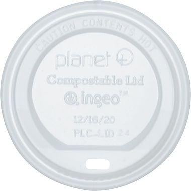 Stalk Market® Planet+ Biopolymer Hot Cup Lid for 12 oz. Hot Cups, Translucent, 500/Carton