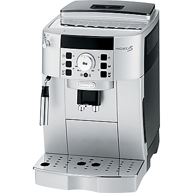 Delonghi Super Automatic Espresso and Cappuccino Maker, 60 oz., Stainless Steel