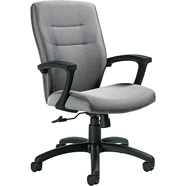 Global Synopsis™ 32% Polyester, 68% Olefin Medium Back Tilter Chair, Graphite