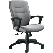 Global Synopsis™ 32% Polyester, 68% Olefin Medium Back Tilter Chair, Graphite