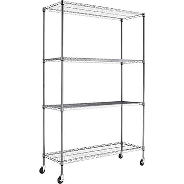 Alera® Steel Wire Shelving Unit, 4 Shelves, 72in.H x 48in.W x 18in.D
