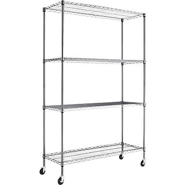 Alera® Steel Wire Shelving Unit, 4 Shelves, 72