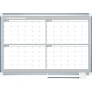 MasterVision®  Four Month Planner, White/Silver
