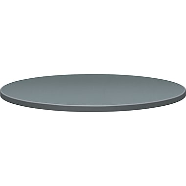 HON® Self-Edge 42in.(Dia) Round Hospitality Table Top, Charcoal Steel Mesh