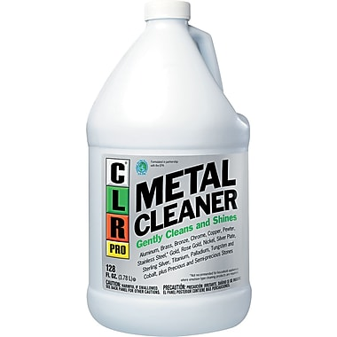 CLR PRO Metal Cleaner, Unscented, 128 oz., 4/Case
