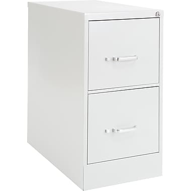 OIF 26 1/2in. Deep 2 Drawer Letter Size Economy Vertical File, Light Gray