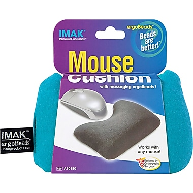IMAK® ergoBeads Mouse Cushion Wrist Rest, Teal, 1 1/4in.(D)