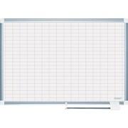 """MasterVision® 36""""H x 48""""W Grid Platinum Plus Dry Erase Board, Aluminium Frame"""