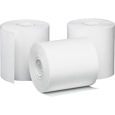 PM Company ® Impact Bond Cash Register/POS Paper Roll, White, 3