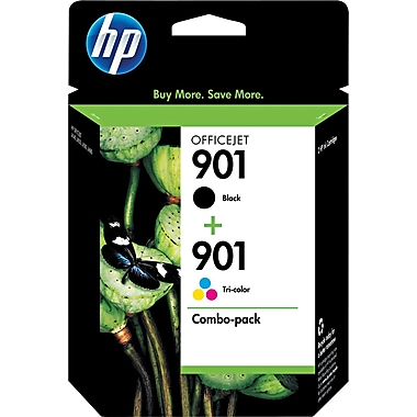 HP 901 Black & Tri-Colour Original Ink Cartridges, 2/Pack (CN069FN)