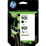 HP – Cartouches d'encre noire et tricolore 901, paquet combiné (CN069FC)