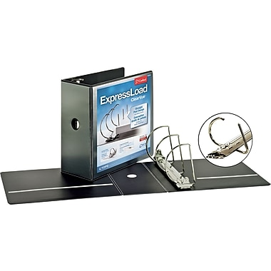 5in. Cardinal ExpressLoad ClearVue D-Ring Binders, Black