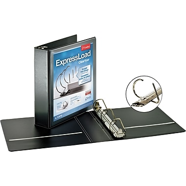 Cardinal 2in. ExpressLoad ClearVue D-Ring Binders, Black