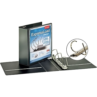 3in. Cardinal ExpressLoad ClearVue D-Ring Binders, Black