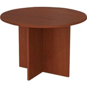 "Bestar Conference Table, 42"" Round, Bordeaux"