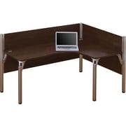 Bestar Pro-Biz Office System Single Right L-Desk Workstation, 3/4 Wall, Chocolate