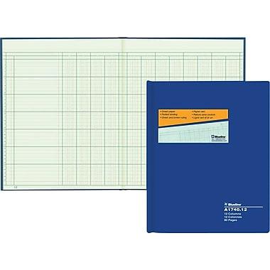 Blueline® – Livret à colonnes A1740, A1740-12, 12 colonnes