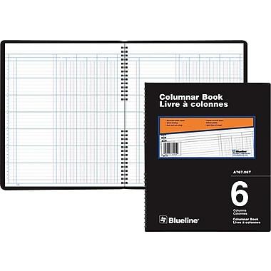 Blueline® A767 Columnar Book, A767-06T, 6 Columns