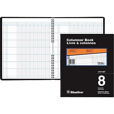 Blueline® A767 Columnar Book, A767-08T, 8 Columns