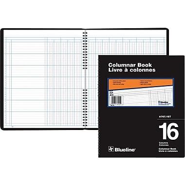 Blueline® A767 Columnar Book, A767-16T, 16 Columns