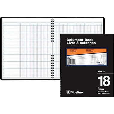 Blueline® A767 Columnar Book, A767-18T, 18 Columns