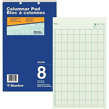 Blueline® Columnar Pad, A5308, 8 Columns