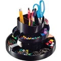 OIC® 16 Compartment Black Plastic Recycled Rotary Organizer