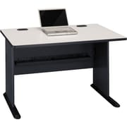 "Bush Cubix 48"" Desk, Slate Gray and White Spectrum"