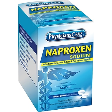 PhysiciansCare Naproxen Sodium (Aleve) 50 packets/box