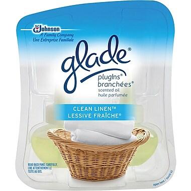 Glade® – Recharges d'huile parfumées pour l'élément Glade Branchées®, Lessive fraîche®, paq./2