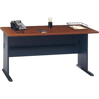 """Bush® Cubix Collection 60"""" desk, Hansen cherry"""