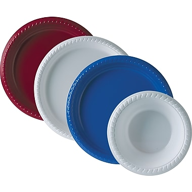 SOLO Plastic Party Plates and Bowls