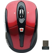 Gear Head Optical 2.4 GHz Wireless Tilt-Wheel Mouse, Red