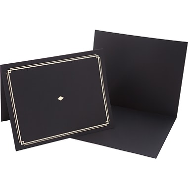 Award Certificate Holders, Black/Gold