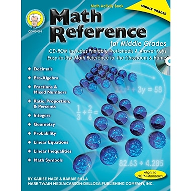 Mark Twain Math Reference for Middle Grades Resource Book
