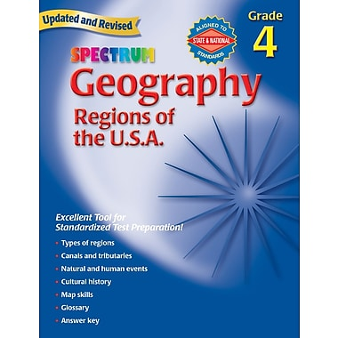 Spectrum Geography Workbook, Grade 4