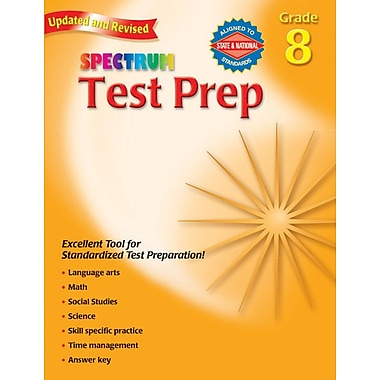 Spectrum Test Prep Workbook, Grade 8