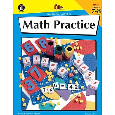 Instructional Fair Math Practice Resource Book, Grades 7 - 8