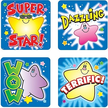 Carson-Dellosa Stars Motivational Stickers, Stars, All Grades