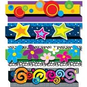 """Carson-Dellosa Publishing 144179 3' x 3"""" Straight Decorative Designs Pop-Its Border Set, Multicolor"""