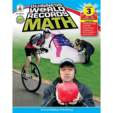 Carson-Dellosa Guinness World Records® Math Resource Book, Grade 3