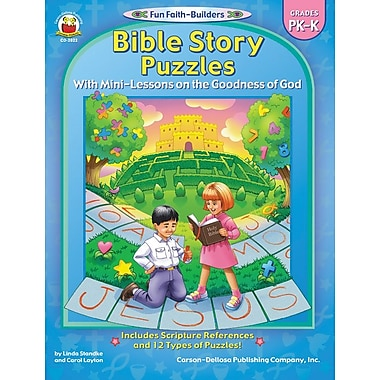 Carson-Dellosa Bible Story Puzzles Resource Book, Grades PK - K