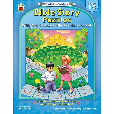 Carson-Dellosa Bible Story Puzzles Resource Book, Grades 1 - 3