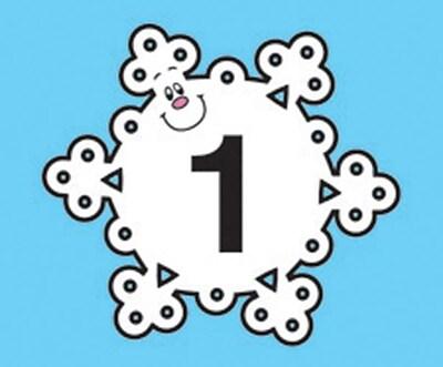 Carson Dellosa Snowflake Calendar Cover Up