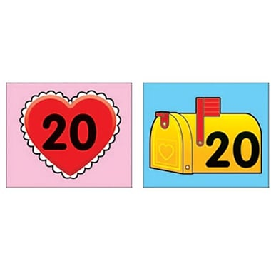 Carson-Dellosa Heart/Mailbox Calendar Cover-Up